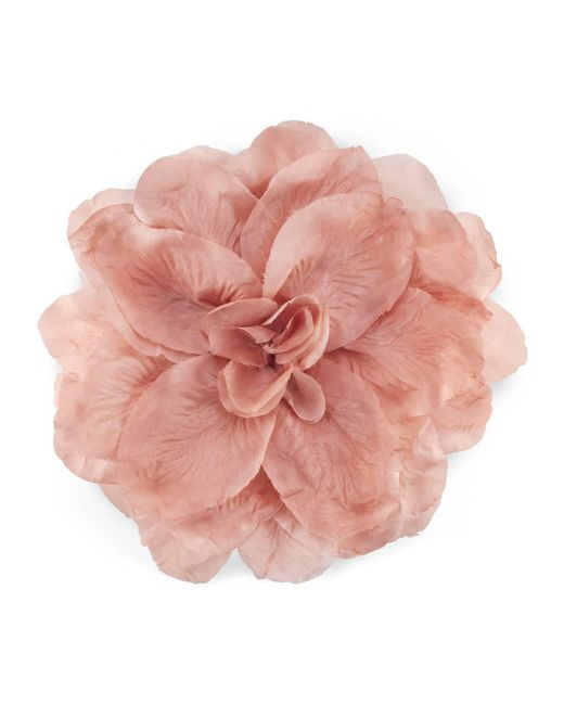 Gucci - Pink Flower Brooch In Silk And Cotton - Lyst
