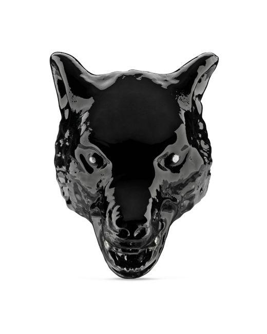 Gucci - Black Anillo Anger Forest de Esmalte con Cabeza de Lobo for Men - Lyst