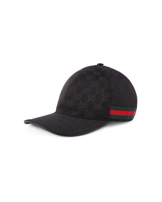 Gucci - Black Baseball-Cap mit Webstreifen for Men - Lyst