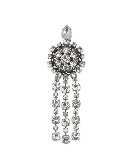 Gucci - White Metal Brooch With Crystals - Lyst