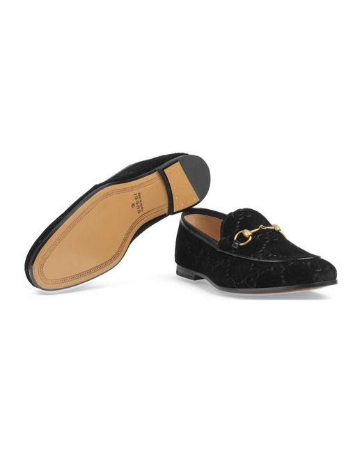 d6603a24e19 Lyst - Gucci Jordaan Velvet Loafers in Black for Men - Save 26%