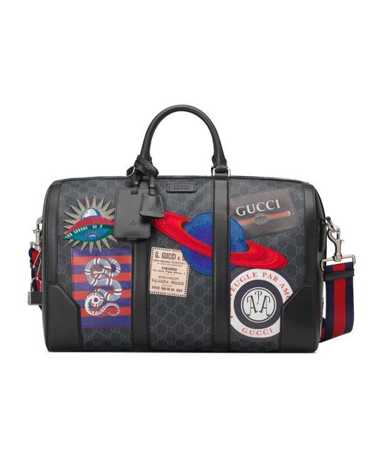 Gucci - Black Sac de voyage cabine Suprême GG souple avec motif Night  Courrier for Men ... 5dbc09fa9fc