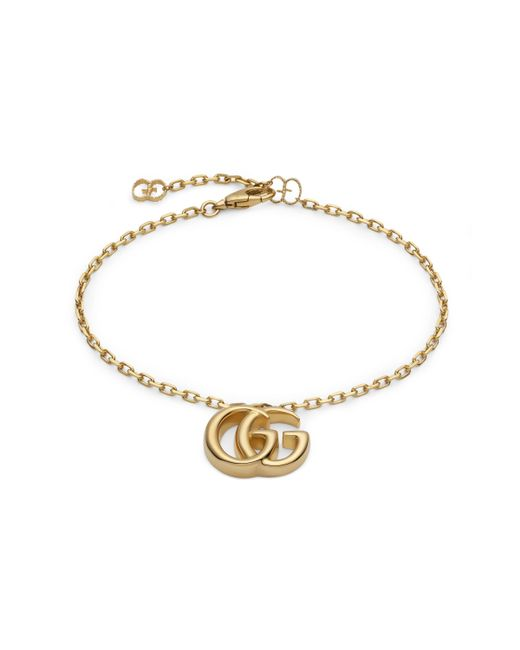 Gucci - Metallic Gg Running Yellow Gold Bracelet - Lyst