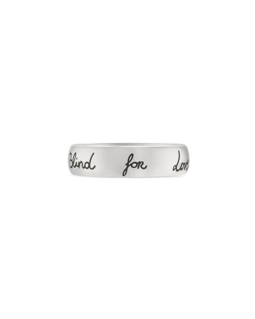 "Gucci - Metallic ""blind For Love"" Ring In Silver - Lyst"