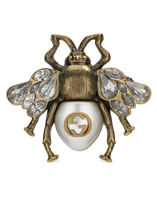 Gucci - Metallic Multi-finger Ring With Bee - Lyst