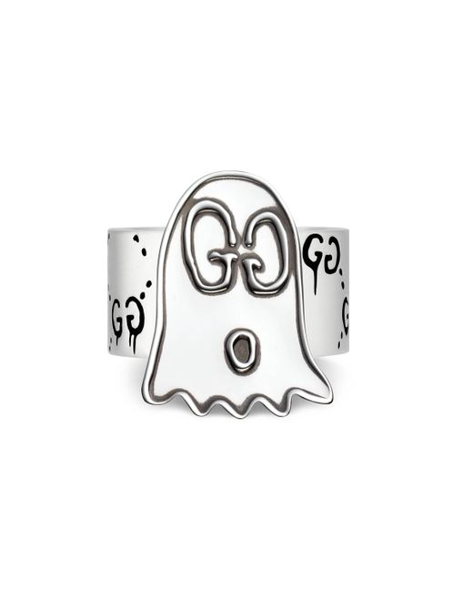 Gucci - Metallic Ghost Ring In Silver - Lyst