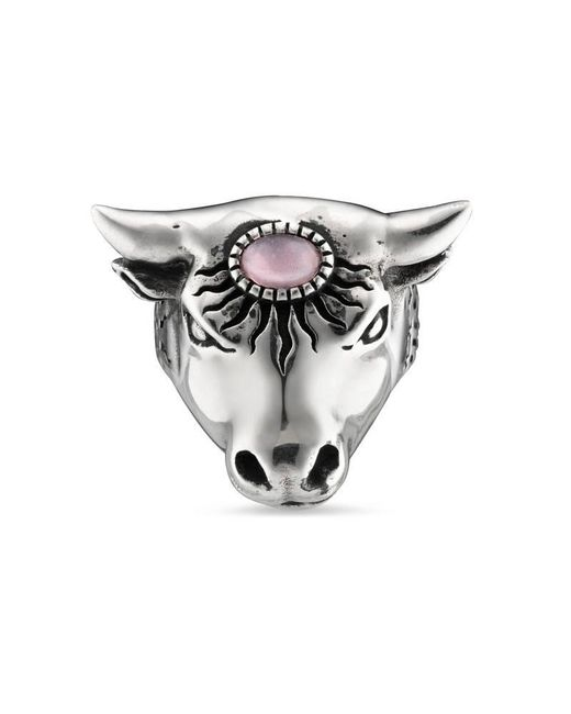 Gucci | Metallic Anger Forest Bull's Head Ring | Lyst