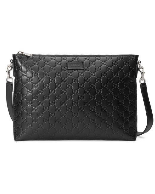 3ca749b9ad5 Lyst - Gucci Signature Soft Messenger in Black for Men - Save 7%