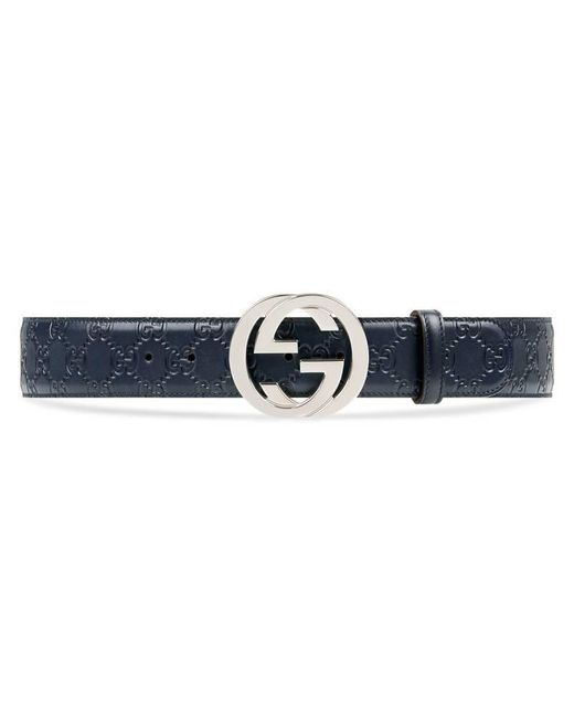 Gucci - Black Signature Leather Belt for Men - Lyst