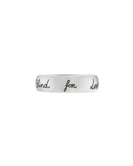 """Gucci - Metallic """"blind For Love"""" Ring In Silver - Lyst"""