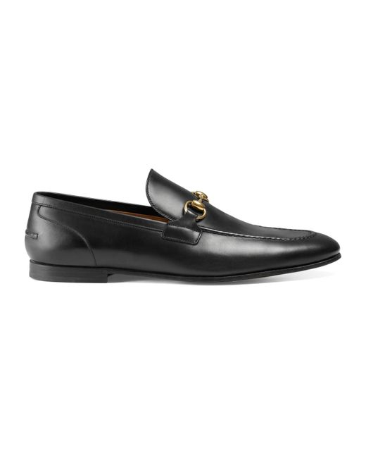 772acdcaa Lyst - Gucci Jordaan Leather Loafer in Black for Men - Save 5%