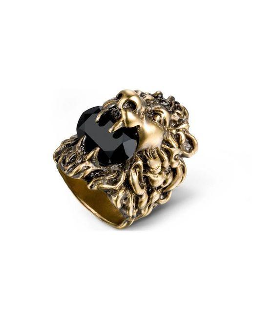 Gucci - Metallic Lion Head Ring With Swarovski - Lyst
