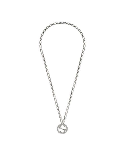Gucci - Metallic Collar con Colgante de G Entrelazada for Men - Lyst