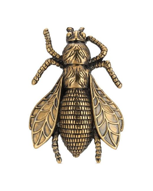 Gucci | Metallic Bee Ring With Enamel | Lyst