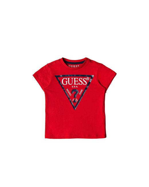 Guess - Red Short-sleeve Triangle Logo Tee (2-7) - Lyst