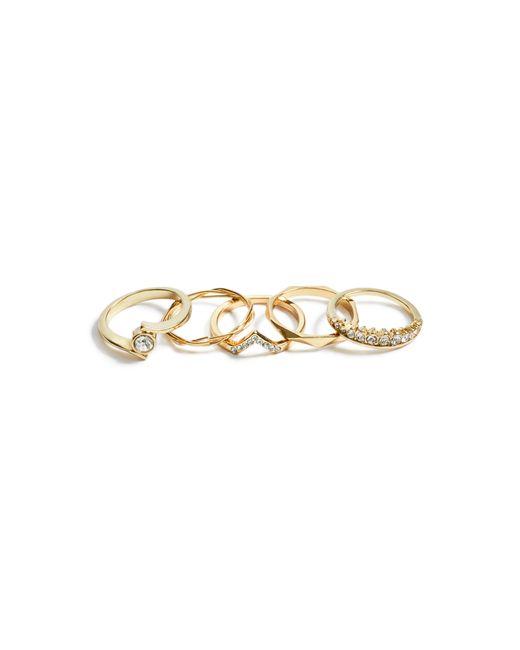 Guess - Metallic Brilla Gold-tone Ring Set - Lyst