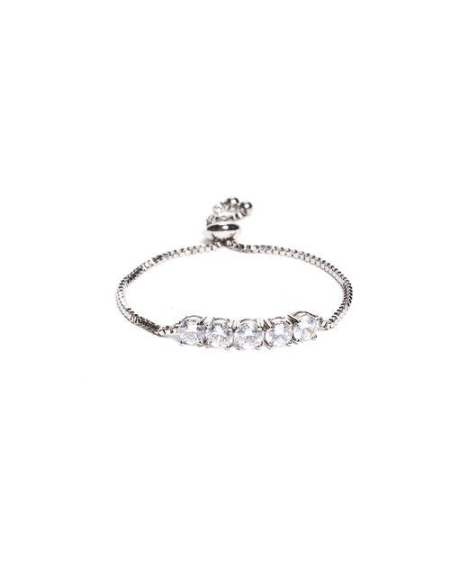 Guess - Metallic Emma Silver-tone Rhinestone Bracelet - Lyst