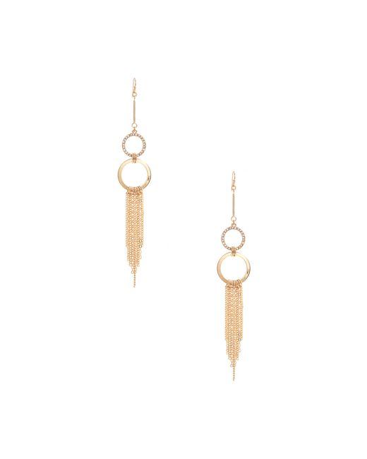 Guess - Metallic Kate Gold-tone Circle Fringe Earrings - Lyst