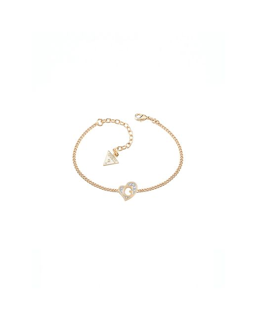 Guess | Metallic G Hearts Gold-plated Bracelet | Lyst