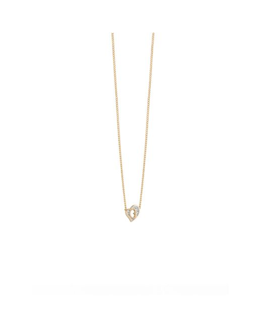 Guess | Metallic G Hearts Gold-plated Necklace | Lyst
