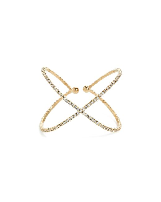 Guess   Metallic Rhinestone Cuff Bracelet   Lyst