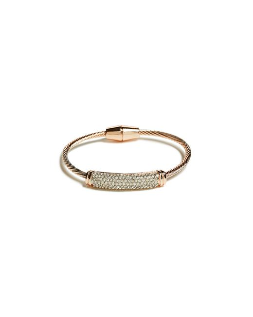 Guess | Metallic Twisted Magnetic Bracelet | Lyst