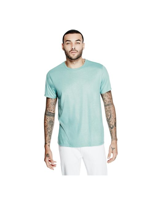 Guess - Blue Mason Shine Floral-print Tee for Men - Lyst