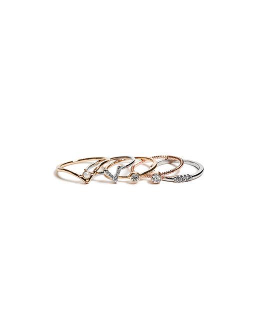 Guess - Metallic Calista Midi Ring Set - Lyst
