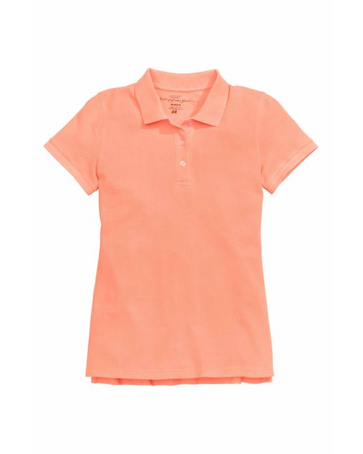 H m polo shirt in orange neon orange save 63 lyst for H m polo shirt mens