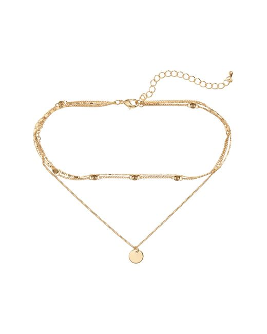 H&M   Metallic Three-strand Necklace   Lyst