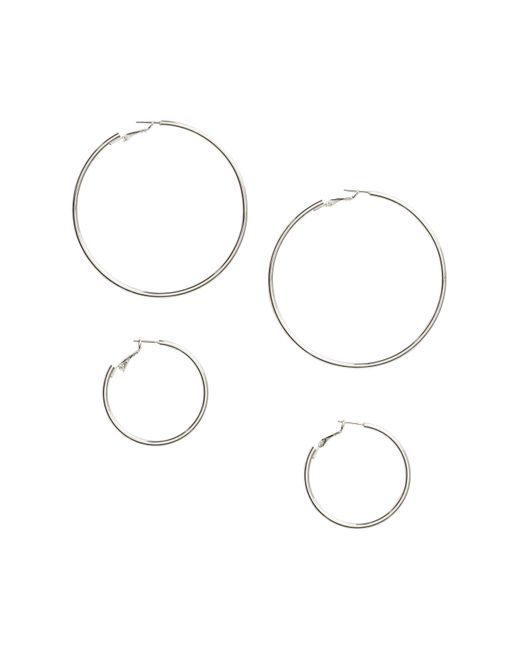 H&M | Metallic 2 Pairs Hoop Earrings | Lyst