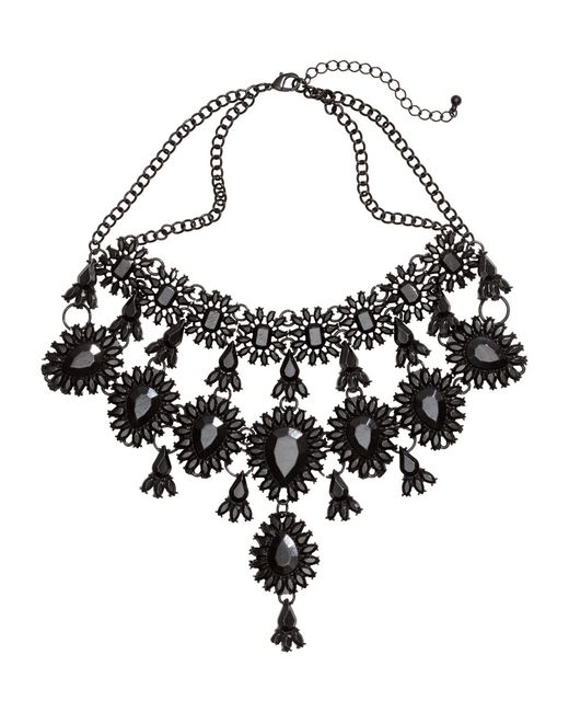 H&M | Black Metal Necklace | Lyst