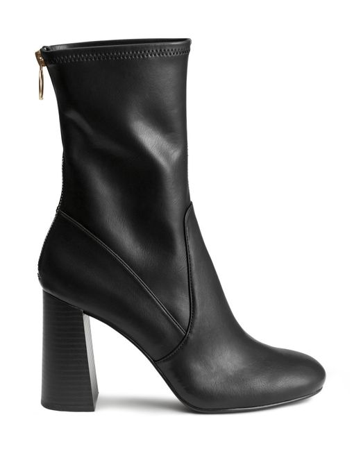 H&M | Black Ankle Boots | Lyst