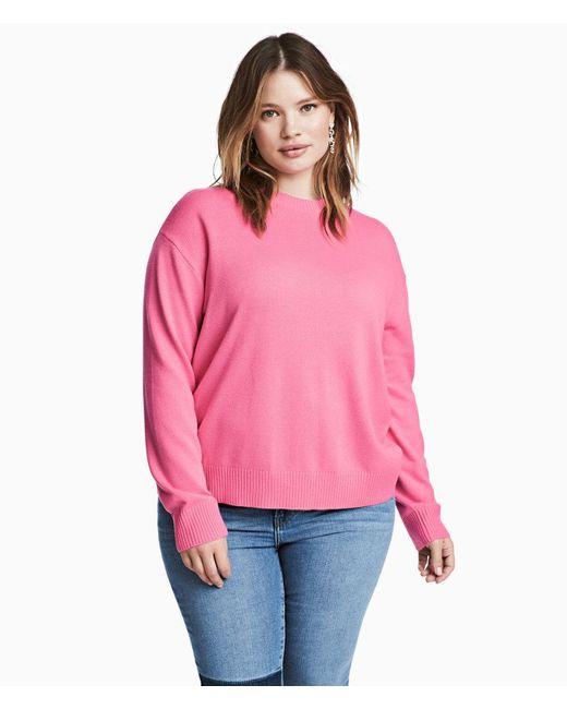 H&M | Pink + Fine-knit Jumper | Lyst
