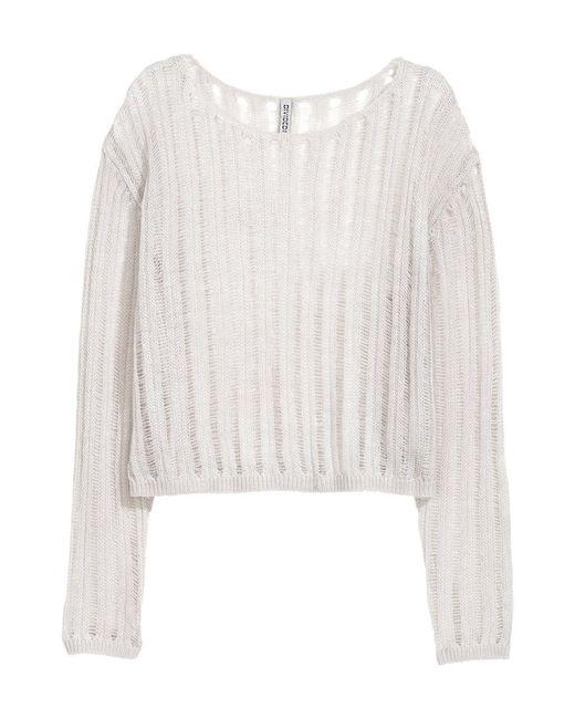 H&M | Gray Rib-knit Jumper | Lyst