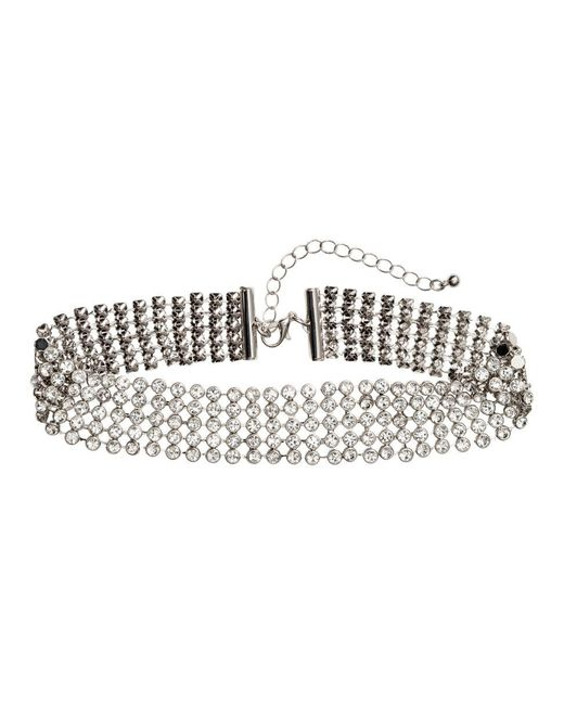 H&M | Metallic Choker With Sparkly Stones | Lyst