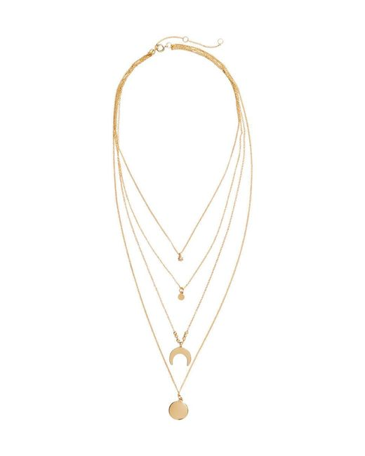 H&M | Metallic Multistrand Necklace | Lyst