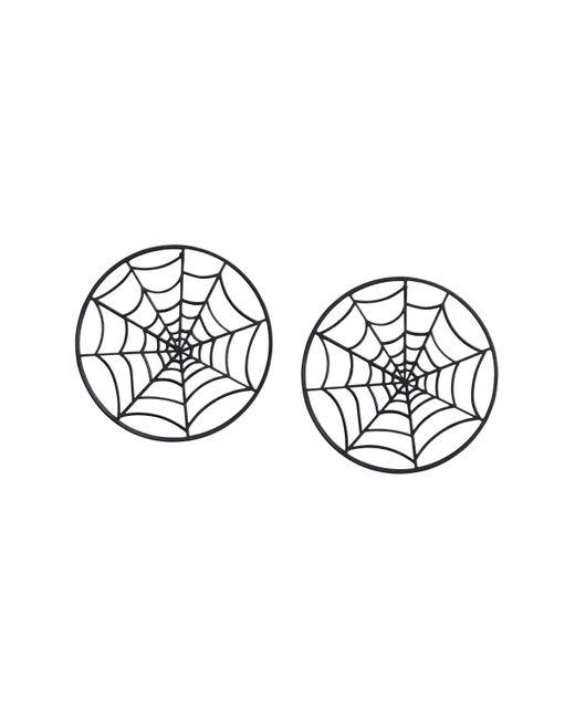 H&M   Black Cobweb-shaped Earrings   Lyst