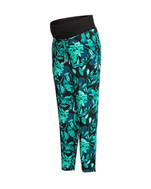 H&M - Black Mama Patterned Trousers - Lyst
