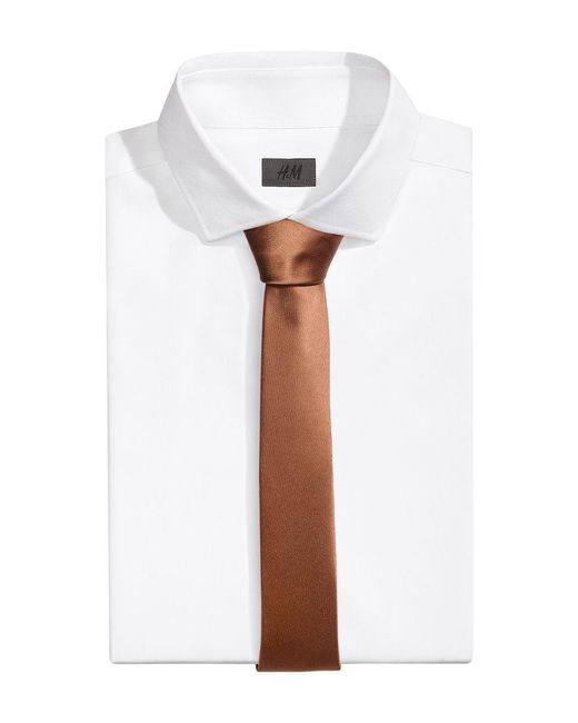 H&M | Brown Satin Tie for Men | Lyst