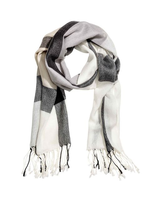 H&M | Gray Woven Scarf | Lyst