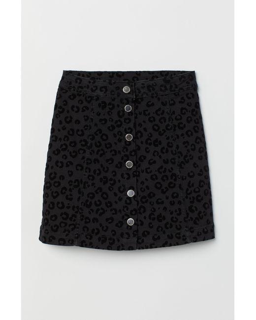 2c9b3da00 ... H&M - Black A-line Skirt ...