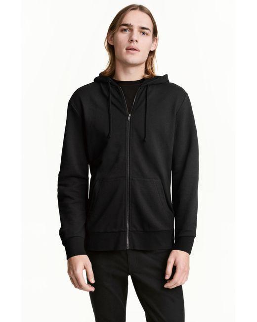 H&M | Black Hooded Jacket for Men | Lyst