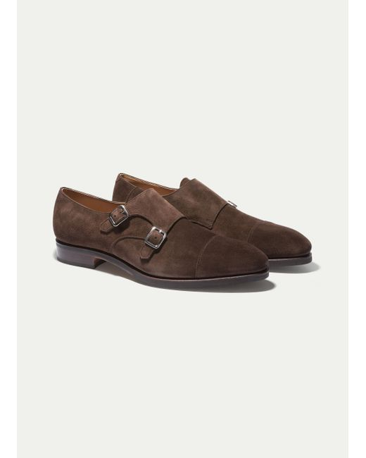 Hackett | Brown The Double Monk Strap Shoe for Men | Lyst
