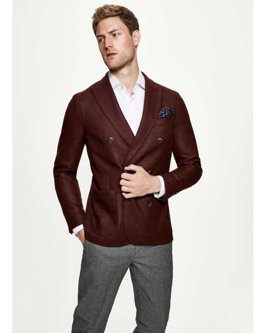 Hackett | Multicolor Wool Cashmere Textured Blazer for Men | Lyst