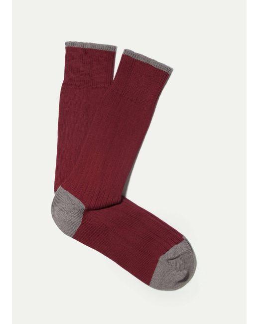 Hackett | Red Chunky Contrast Socks for Men | Lyst