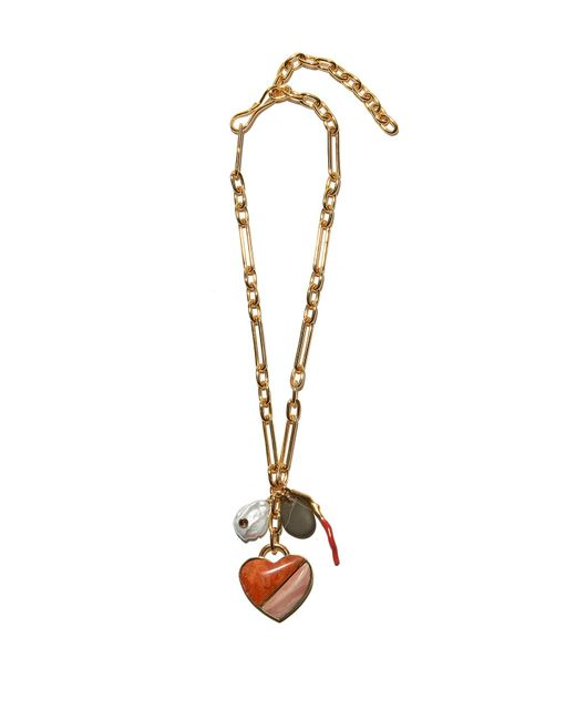 Lizzie Fortunato - Venice Heart Necklace In Pink - Lyst