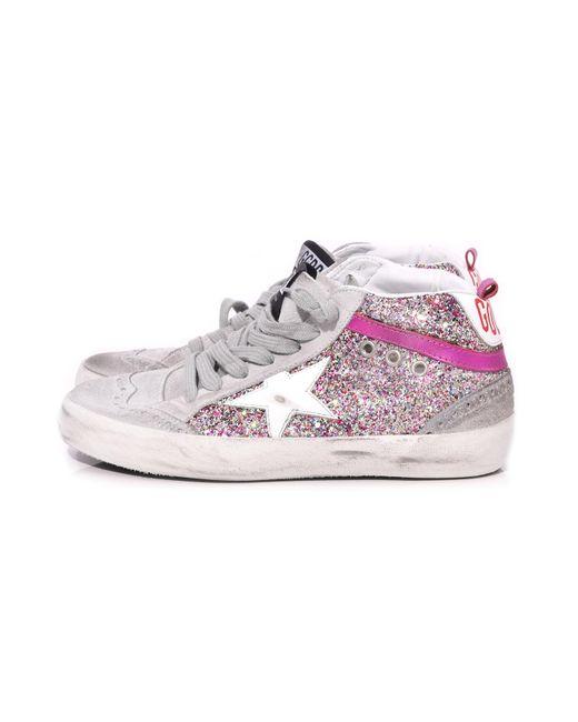 Golden Goose Deluxe Brand - Mid Star Sneaker In Multicolor Glitter/white Star - Lyst