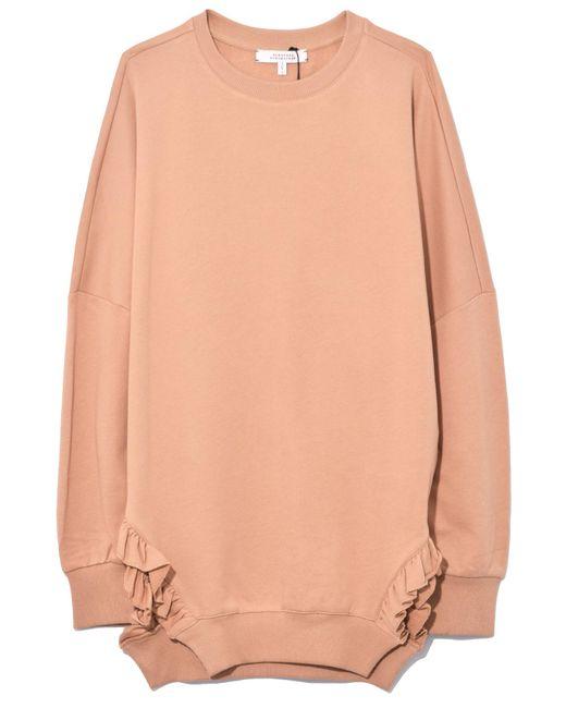 Dorothee Schumacher - Natural Cosy Casual Sweatshirt In Sensitive Camel - Lyst