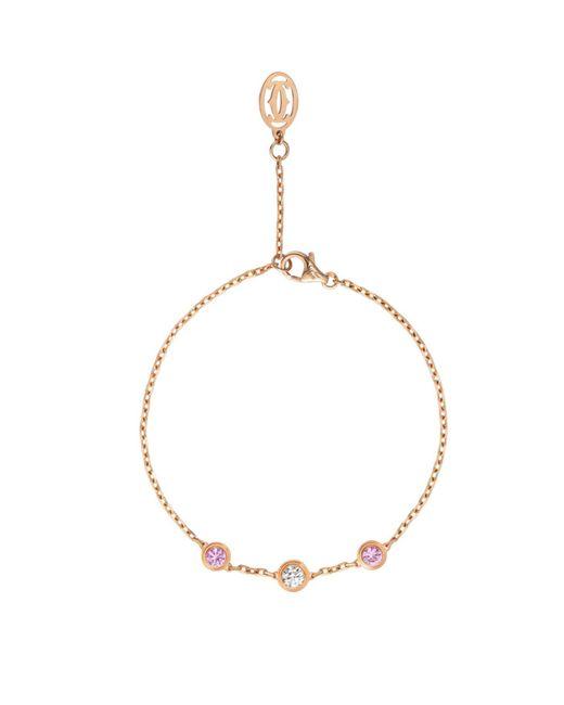 Cartier - Metallic Pink Gold Saphirs Lgers De Bracelet - Lyst